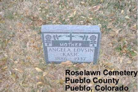 LOVSIN, ANGELA B. - Pueblo County, Colorado   ANGELA B. LOVSIN - Colorado Gravestone Photos