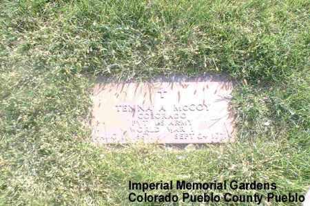 MCCOY, TENNA A. - Pueblo County, Colorado | TENNA A. MCCOY - Colorado Gravestone Photos