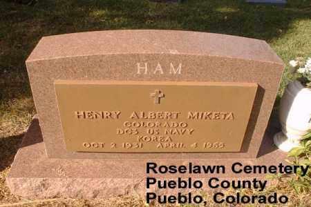 MIKETA, HENRY ALBERT - Pueblo County, Colorado | HENRY ALBERT MIKETA - Colorado Gravestone Photos