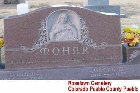 MOHAR, JOSEPH M. - Pueblo County, Colorado   JOSEPH M. MOHAR - Colorado Gravestone Photos