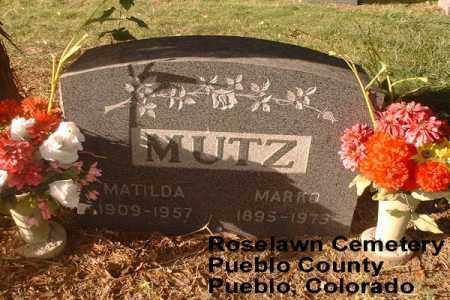 MUTZ, MATILDA - Pueblo County, Colorado | MATILDA MUTZ - Colorado Gravestone Photos