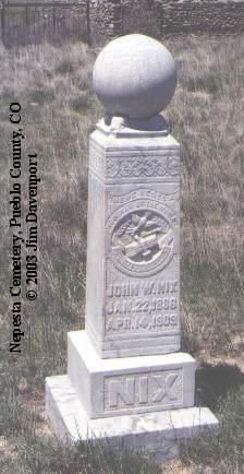NIX, JOHN W. - Pueblo County, Colorado | JOHN W. NIX - Colorado Gravestone Photos