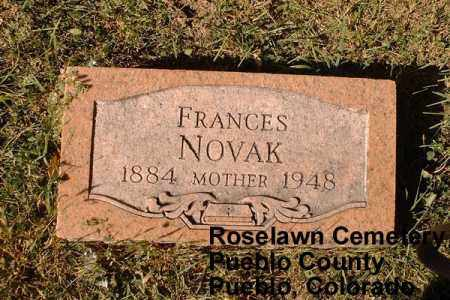 NOVAK, FRANCES - Pueblo County, Colorado | FRANCES NOVAK - Colorado Gravestone Photos