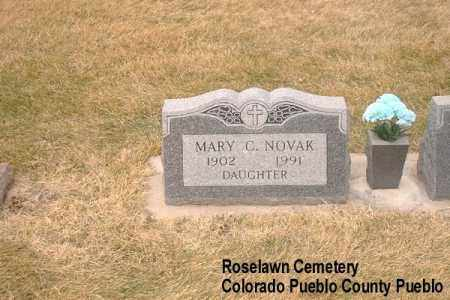 NOVAK, MARY C. - Pueblo County, Colorado | MARY C. NOVAK - Colorado Gravestone Photos