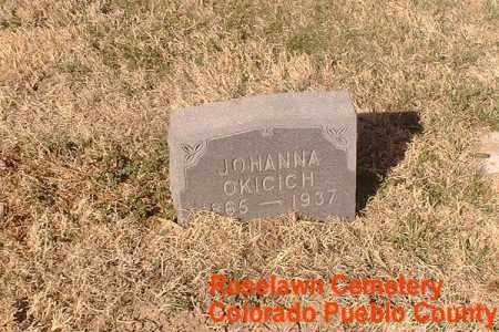 OKICICH, JOHANNA - Pueblo County, Colorado   JOHANNA OKICICH - Colorado Gravestone Photos