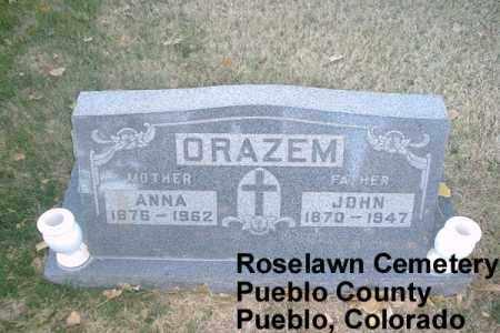 ORAZEM, JOHN - Pueblo County, Colorado | JOHN ORAZEM - Colorado Gravestone Photos