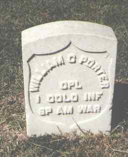 PORTER, WILLIAM C. - Pueblo County, Colorado   WILLIAM C. PORTER - Colorado Gravestone Photos