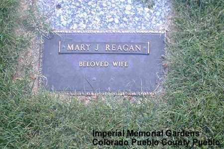 REAGAN, MARY J. - Pueblo County, Colorado | MARY J. REAGAN - Colorado Gravestone Photos