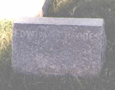 RHODES, EDWIN C. - Pueblo County, Colorado | EDWIN C. RHODES - Colorado Gravestone Photos