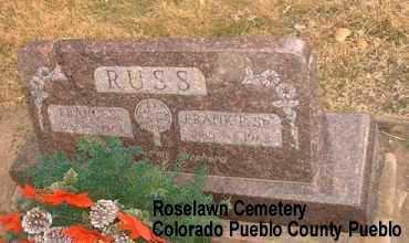 RUSS, FRANK P. SR. - Pueblo County, Colorado | FRANK P. SR. RUSS - Colorado Gravestone Photos
