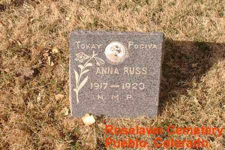 RUSS, ANNA - Pueblo County, Colorado | ANNA RUSS - Colorado Gravestone Photos