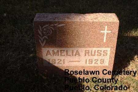 RUSS, AMELIA - Pueblo County, Colorado | AMELIA RUSS - Colorado Gravestone Photos