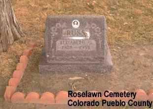 RUSS, ELIZABETH G. - Pueblo County, Colorado | ELIZABETH G. RUSS - Colorado Gravestone Photos