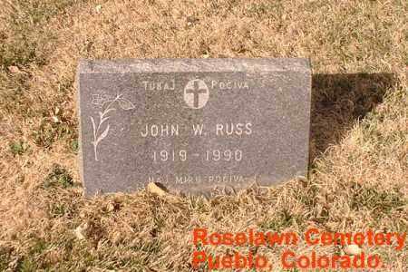 RUSS, JOHN W. - Pueblo County, Colorado   JOHN W. RUSS - Colorado Gravestone Photos