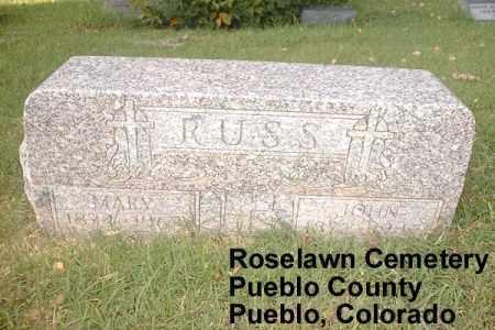 RUSS, JOHN - Pueblo County, Colorado | JOHN RUSS - Colorado Gravestone Photos