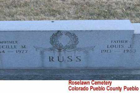 RUSS, LUCILLE M. DUPLICATE - Pueblo County, Colorado | LUCILLE M. DUPLICATE RUSS - Colorado Gravestone Photos