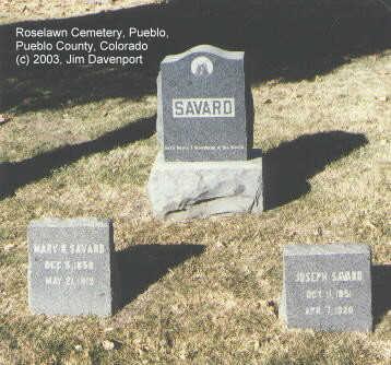 SAVARD, JOSEPH - Pueblo County, Colorado | JOSEPH SAVARD - Colorado Gravestone Photos