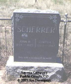 SCHERRER, JOHN H. - Pueblo County, Colorado | JOHN H. SCHERRER - Colorado Gravestone Photos