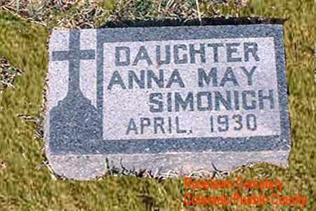 SIMONICH, ANNA MAY - Pueblo County, Colorado | ANNA MAY SIMONICH - Colorado Gravestone Photos