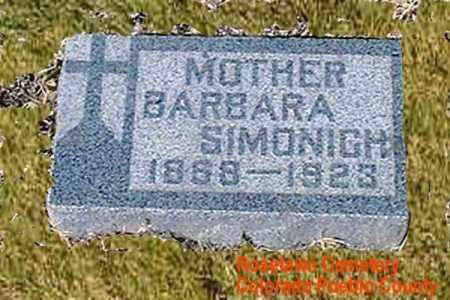 SIMONICH, BARBARA - Pueblo County, Colorado | BARBARA SIMONICH - Colorado Gravestone Photos