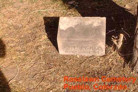 SIMONICH, JOHN - Pueblo County, Colorado | JOHN SIMONICH - Colorado Gravestone Photos
