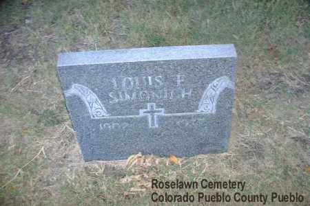 SIMONICH, LOUIS F. - Pueblo County, Colorado | LOUIS F. SIMONICH - Colorado Gravestone Photos