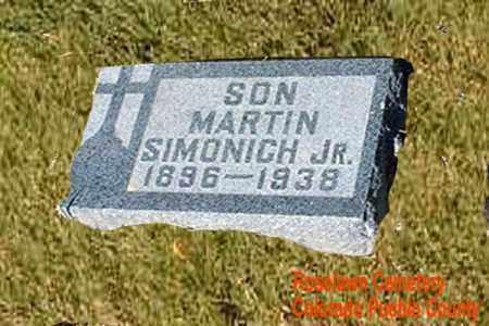 SIMONICH, MARTIN JR. - Pueblo County, Colorado | MARTIN JR. SIMONICH - Colorado Gravestone Photos