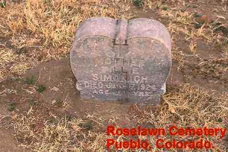 SIMONICH, MILLIE - Pueblo County, Colorado | MILLIE SIMONICH - Colorado Gravestone Photos