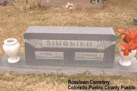 SIMONICH, CAROL F. - Pueblo County, Colorado | CAROL F. SIMONICH - Colorado Gravestone Photos