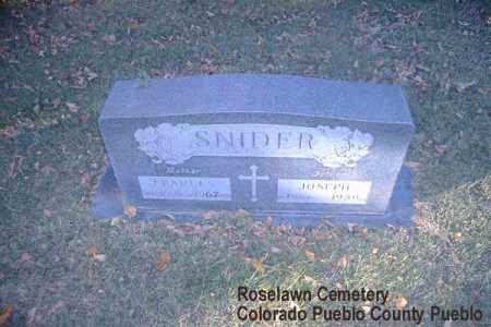 SNIDER, FRANCES - Pueblo County, Colorado   FRANCES SNIDER - Colorado Gravestone Photos