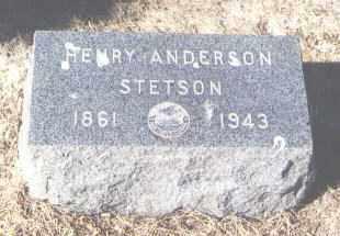 STETSON, HENRY ANDERSON - Pueblo County, Colorado | HENRY ANDERSON STETSON - Colorado Gravestone Photos