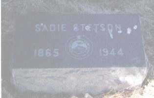 STETSON, SADIE - Pueblo County, Colorado   SADIE STETSON - Colorado Gravestone Photos