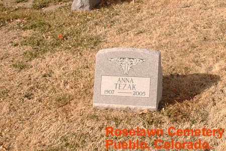 TEZAK, ANNA - Pueblo County, Colorado | ANNA TEZAK - Colorado Gravestone Photos