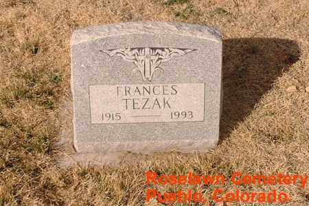 TEZAK, FRANCES - Pueblo County, Colorado | FRANCES TEZAK - Colorado Gravestone Photos
