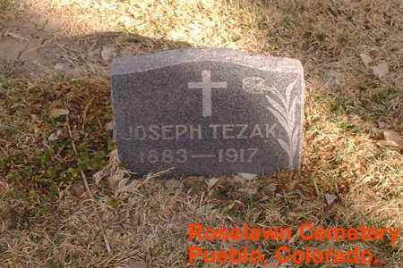 TEZAK, JOSEPH - Pueblo County, Colorado | JOSEPH TEZAK - Colorado Gravestone Photos