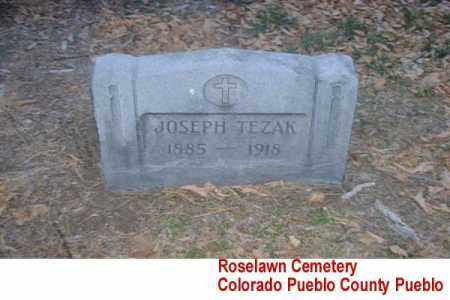 TEZAK, JOSEPH - Pueblo County, Colorado | JOSEPH TEZAK - Colorado Gravestone Photos
