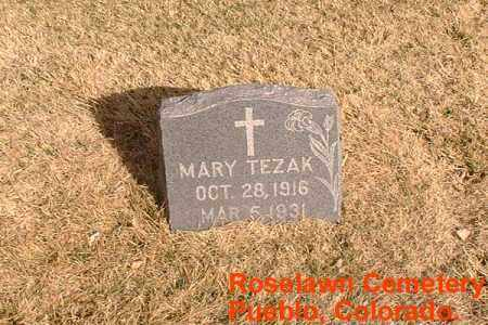 TEZAK, MARY - Pueblo County, Colorado | MARY TEZAK - Colorado Gravestone Photos