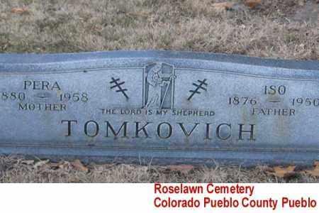 TOMKOVICH, ISO - Pueblo County, Colorado | ISO TOMKOVICH - Colorado Gravestone Photos