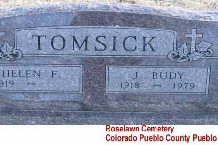 TOMSICK, J. RUDY - Pueblo County, Colorado   J. RUDY TOMSICK - Colorado Gravestone Photos