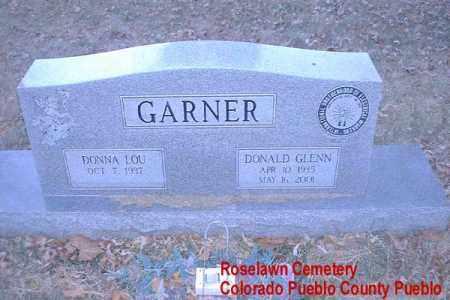 GARNER, DONALD GLENN - Pueblo County, Colorado | DONALD GLENN GARNER - Colorado Gravestone Photos