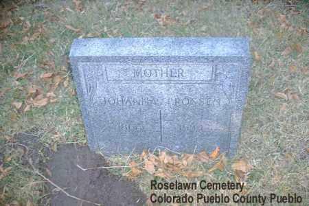 FOSSEN, JOHANNA - Pueblo County, Colorado | JOHANNA FOSSEN - Colorado Gravestone Photos