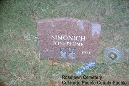 SIMONICH, JOSEPHINE - Pueblo County, Colorado | JOSEPHINE SIMONICH - Colorado Gravestone Photos