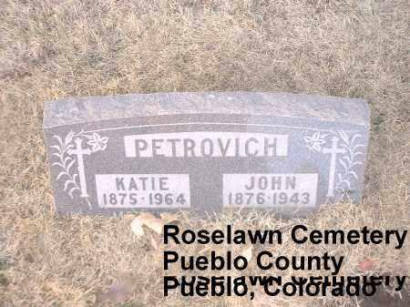 PETROVICH, JOHN - Pueblo County, Colorado   JOHN PETROVICH - Colorado Gravestone Photos