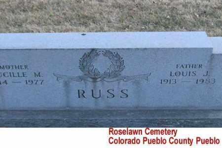 RUSS, LOUIS J. - Pueblo County, Colorado | LOUIS J. RUSS - Colorado Gravestone Photos