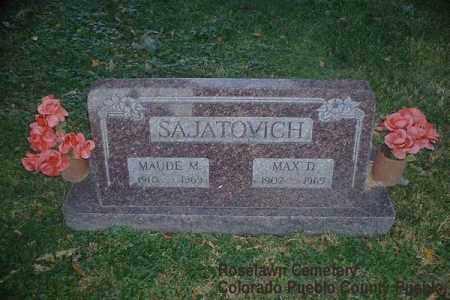SAJATOVICH, MAUDE M. - Pueblo County, Colorado | MAUDE M. SAJATOVICH - Colorado Gravestone Photos