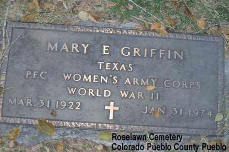 GRIFFIN, MARY E. - Pueblo County, Colorado | MARY E. GRIFFIN - Colorado Gravestone Photos