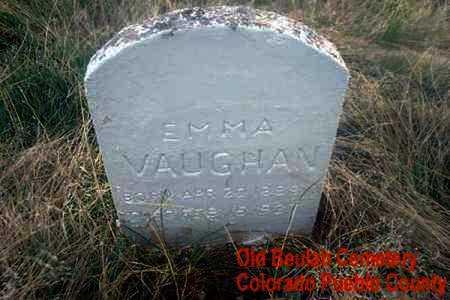 VAUGHN, EMMA - Pueblo County, Colorado   EMMA VAUGHN - Colorado Gravestone Photos