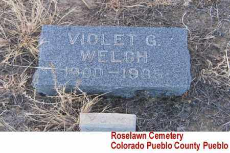 WELCH, VIOLET G. - Pueblo County, Colorado | VIOLET G. WELCH - Colorado Gravestone Photos