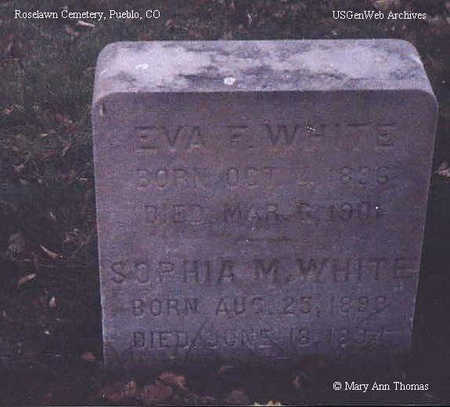 WHITE, EVA - Pueblo County, Colorado | EVA WHITE - Colorado Gravestone Photos