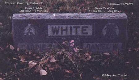 WHITE, DANIEL W. - Pueblo County, Colorado   DANIEL W. WHITE - Colorado Gravestone Photos